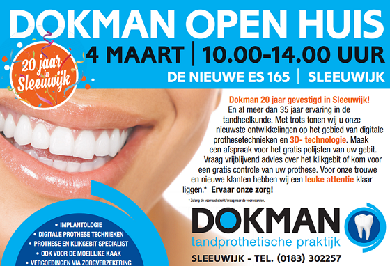 Tandprothetische Praktijk Dokman Open Huis 4 Maart