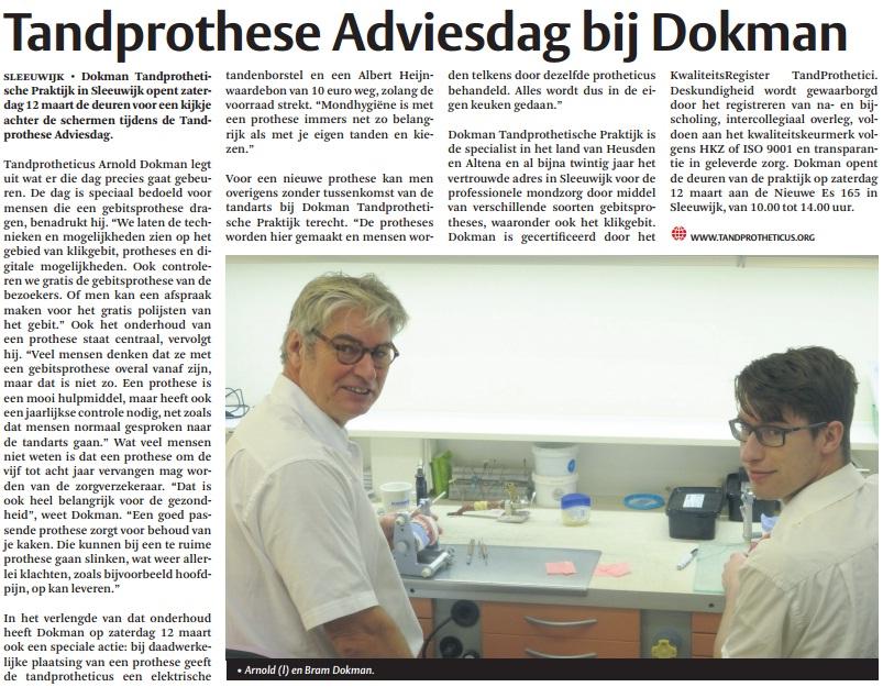 Tandprothese Adviesdag bij Dokman